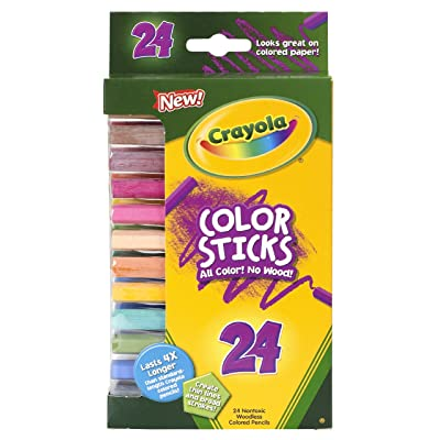 Crayola 24 Ct Color Stick Pencils, 24 Assorted Colors (68-2324): Toys & Games
