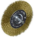 Vermont American 16794 4-Inch Fine Brass Wire Wheel Brush with 1/4-Inch Hex Shank for Drill