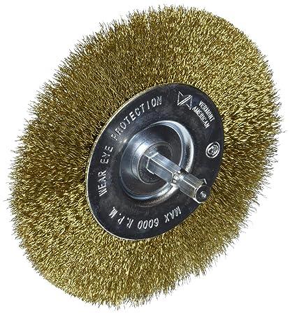 Drill Wire Wheel | Amazon Com Vermont American 16794 4 Inch Fine Brass Wire Wheel