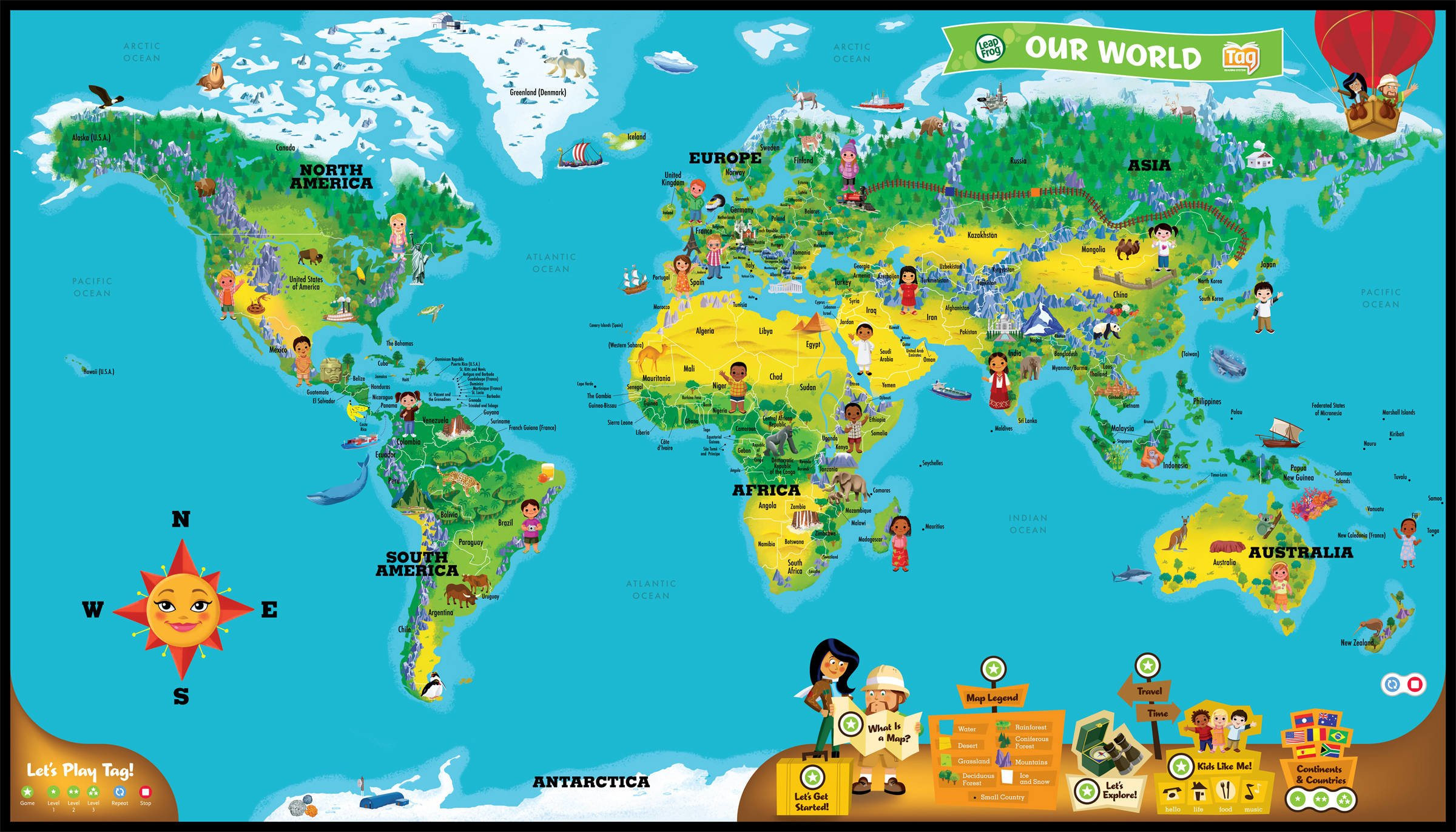 LeapFrog LeapReader Interactive World Map (works with Tag) by LeapFrog