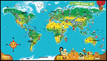 Amazoncom LeapFrog LeapReader Interactive World Map works with