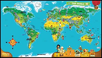World Map Interactive Amazon.com: LeapFrog LeapReader Interactive World Map (works with