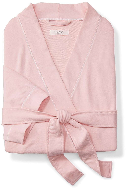 69e558537b Amazon.com  Mae Women s French Terry Kimono Knee-Length Robe  Clothing