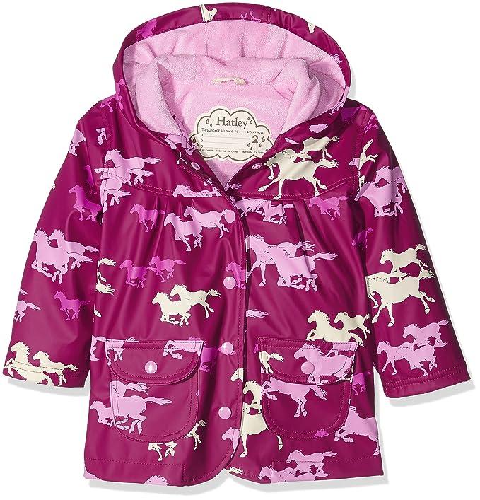 Hatley Raincoat-Fairy Tale Horses, Abrigo Impermeable para Niñas, Rosa (Pink) 4 años: Amazon.es: Ropa y accesorios