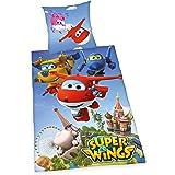 Herding Bettwäsche-Set Super Wings, Baumwolle, Mehrfarbig, 200 x 135 cm