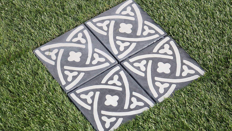 Oviala Dalle de Terrasse clipsable Carreau de Ciment