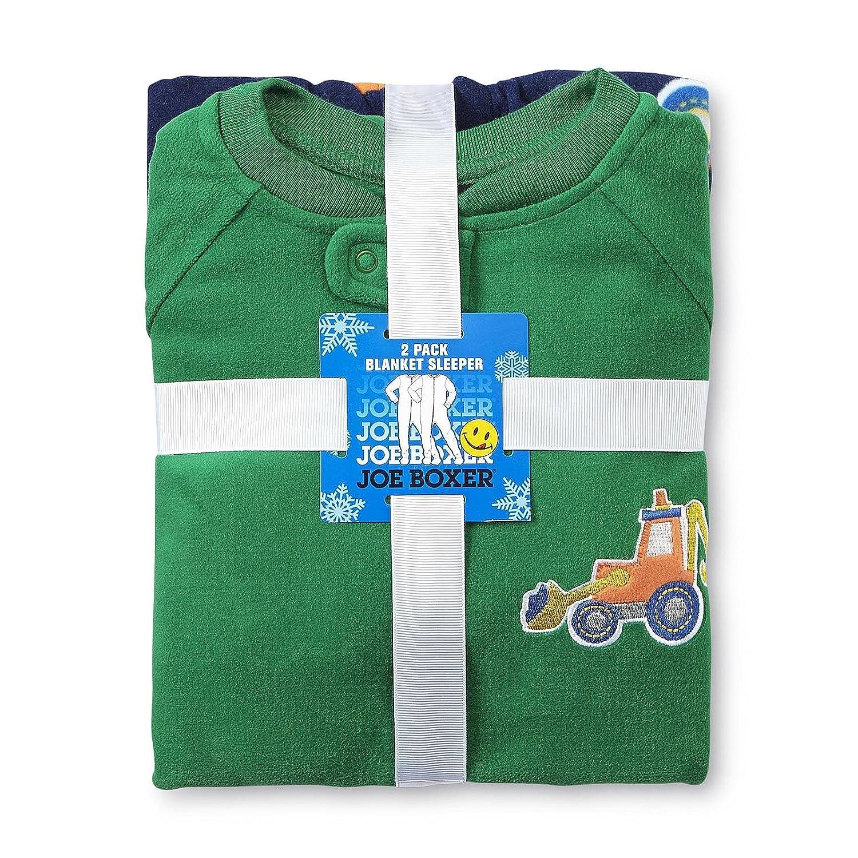 d54344eebda0 Amazon.com  Joe Boxer Baby Boy s 2-pack Footed Sleeper Pajamas (6 9 ...