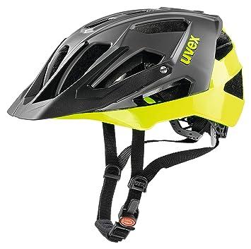 Uvex Quatro Casco de Ciclismo, Unisex Adulto, Negro/Verde (Lima),