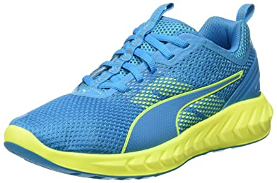 Puma Men's Ignite Ultimate 2 Blue Danube and Safety Yellow Running Shoes -  6 UK/