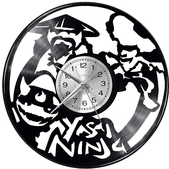 WoD Yasai - Reloj de Pared de Vinilo, diseño Retro de ...