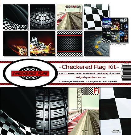Amazon Reminisce Ckf 200 Checkered Flag Scrapbook Collection Kit