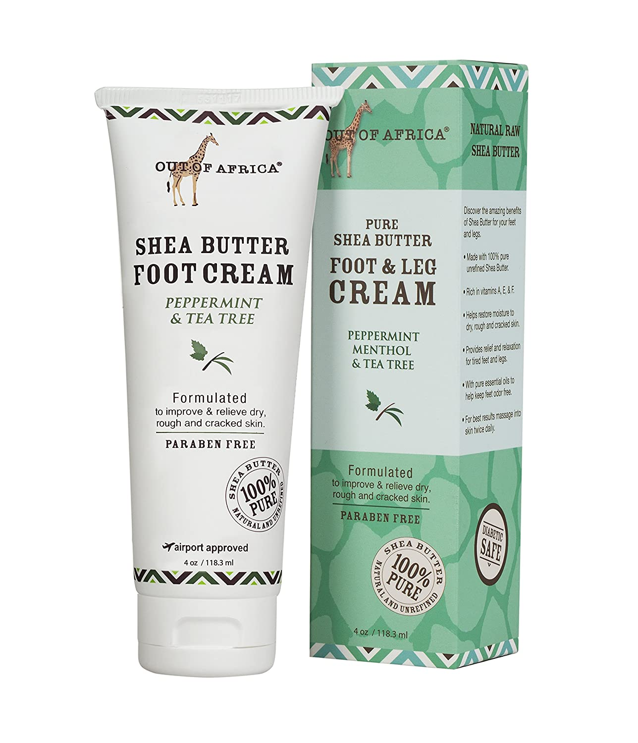 Out of Africa Peppermint Menthol & Tea Tree Foot Cream, 4 Ounce California Inside & Out