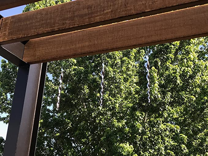 Pájaro repelente al viento, ahuyentador de viento, varillas reflectantes, dispositivo ornamentales ahuyentador de espiral (30, 48 cm) (12 piezas): Amazon.es: Jardín