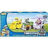 Paw Patrol 6026092 - Confezione da 3 Rescue Racers, veicolo con cucciolo - Rubble, Rocky e Skye