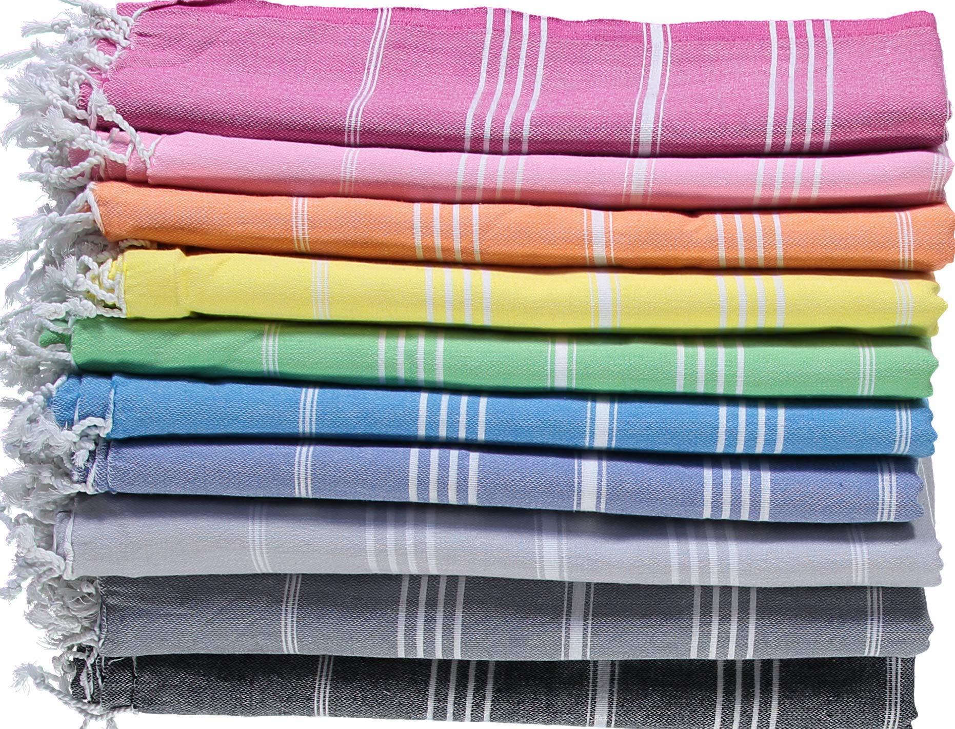 LOOMANGO (Set of 6) Classic 100% Cotton 70''x39'' Turkish Towel Set 01