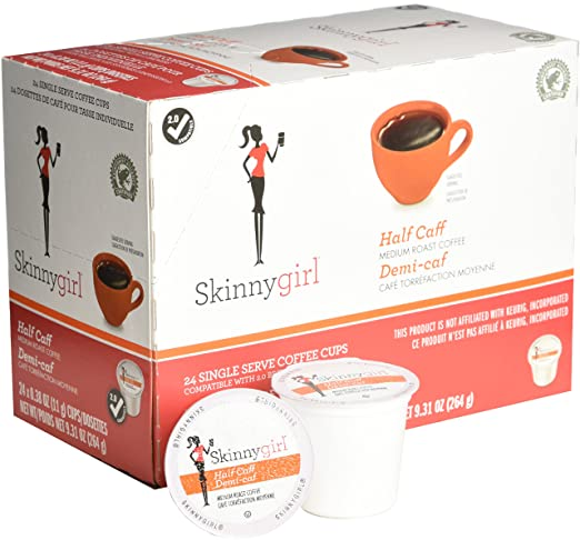 Skinnygirl Half Caff Coffees, Demi-caf, 24 Count