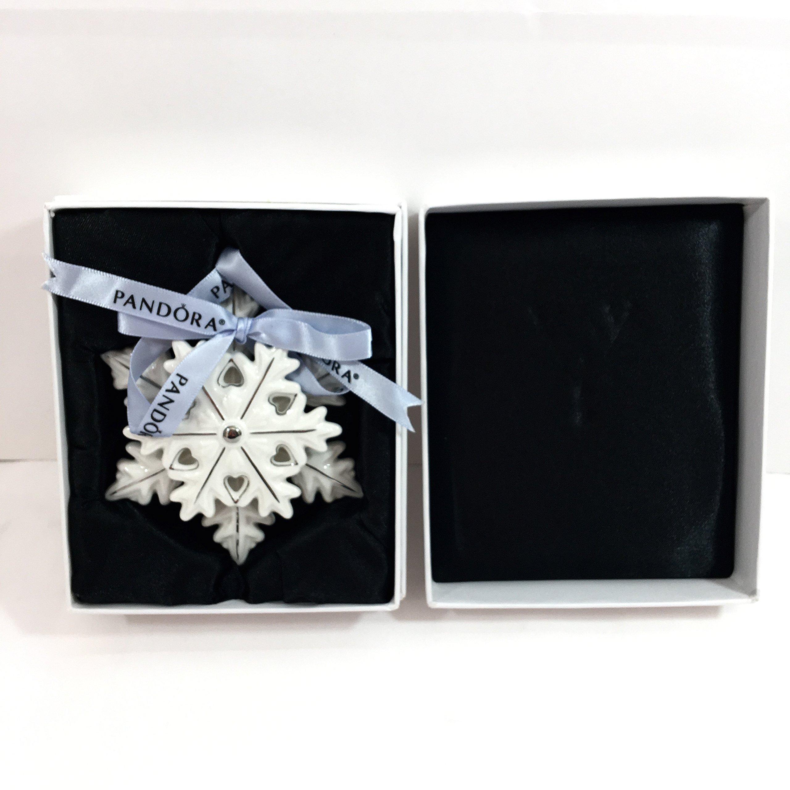 PANDORA SNOWFLAKE Collector 2015 Christmas Ornament Limited Edition w Box PUSP002