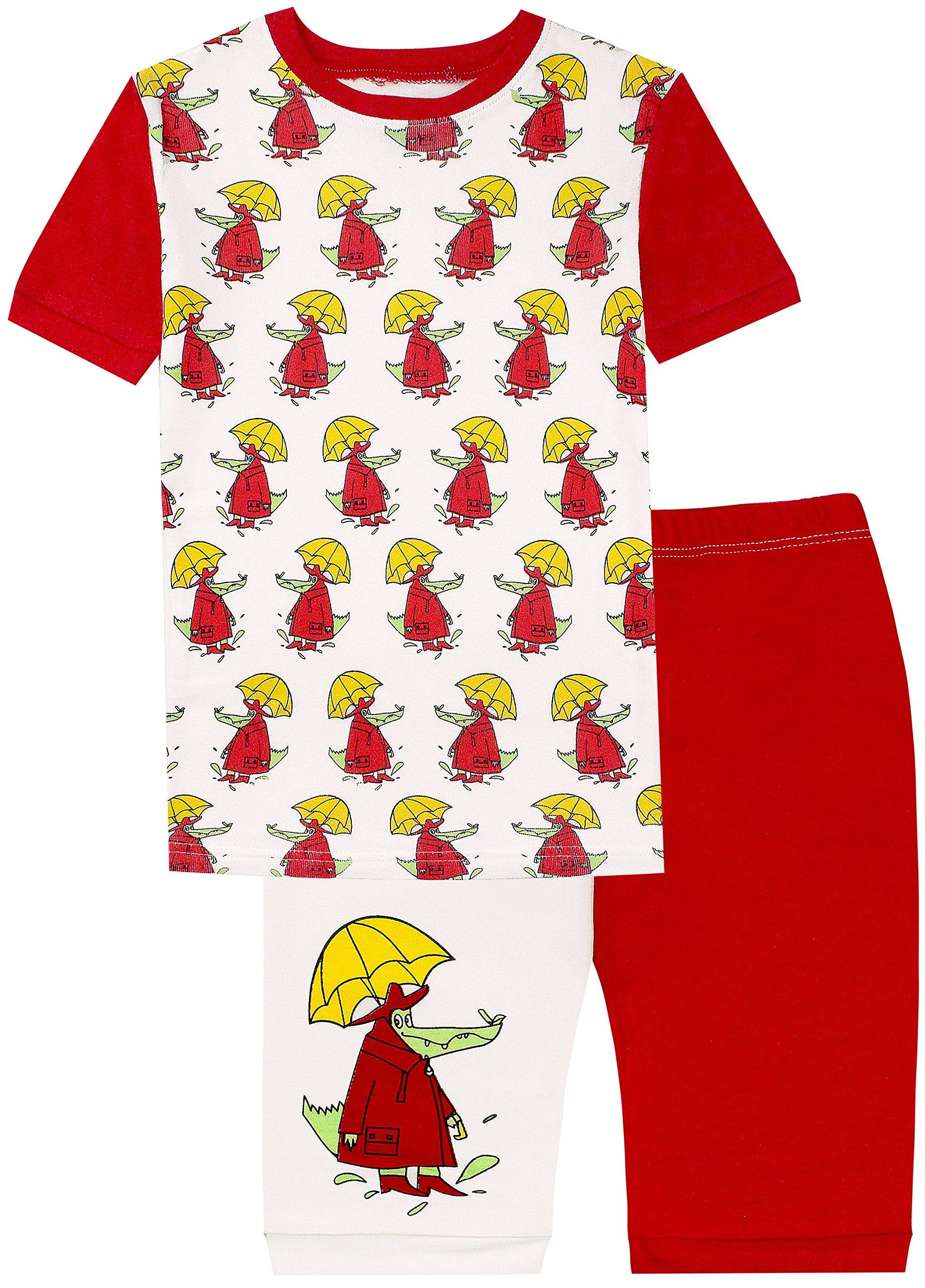 shelry Little?Boys?Pajamas?Kids?Shorts?Sets?Crocodile?100%?Cotton?Summer Shirts Kids Toddler Pajamas Set 8Y