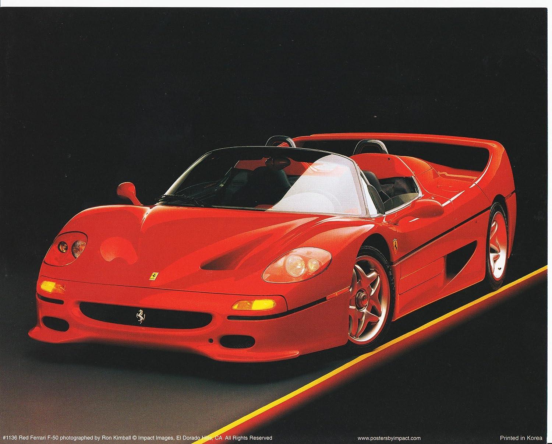 Design a 16x20 poster - Amazon Com F 50 Red Ferrari Sports Racing Car Art Print Poster 16x20 Posters Prints