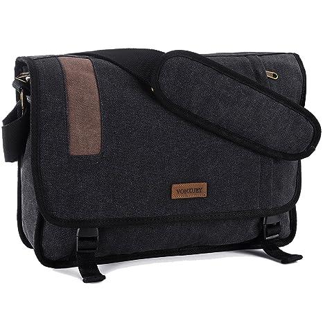4af882d6c4ba Canvas Messenger Bag Retro 15 inch Laptop Shoulder Bag for men by VX  Vonxury  Amazon.ca  Luggage   Bags
