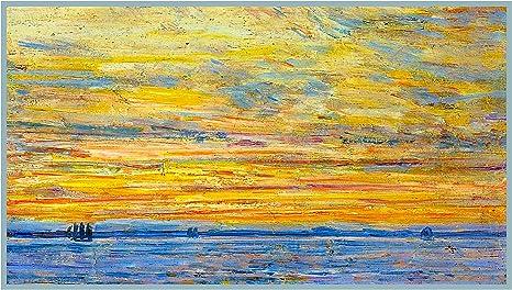 Orenco Originals Summer Evening Sunset at Sea American Impressionist Painter Childe Hassam Counted Cross Stitch Pattern