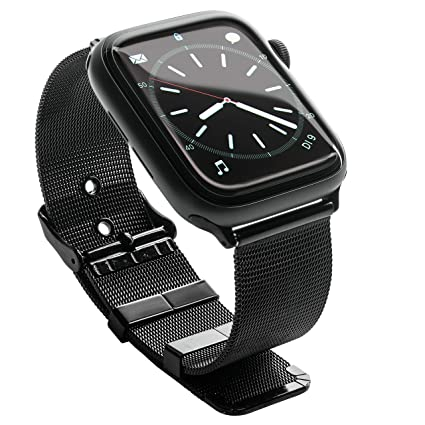 DLX Pulsera para Apple Watch, 42 mm o 38 mm, Repuesto para iWatch Series 4 Serie 3 Serie 2 Serie 1, Negro, Oro, Rosa o Plata