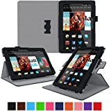 roocase Kindle Fire HDX 8.9 Tablet (2014) Case, new Kindle Fire HDX 8.9 Dual View Folio Case Cover with Multi-Viewing Stand for All-New 2014 Fire HDX 8.9 Tablet (4th Generation), Black