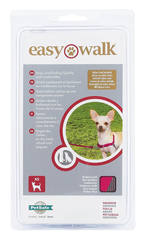 XL Anti-Traction avec 4 Points de R/églage pour Un Confort Maximal PetSafe - R/ésistant Harnais pour Tr/ès Grand Chien Easy Walk Rouge