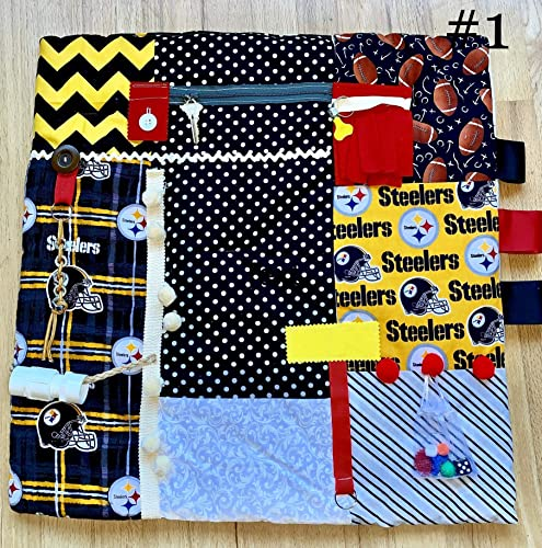 DESERT FLOWERS Dementia Fidget Quilt Alzheimers Blanket by Restless Remedy Fidget Blanket