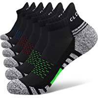Closemate 6 Pairs Ankle Athletic Running Trainer Socks for Men Ladies Women Low Cut Wicking Sport Cushion Tab Mens Socks