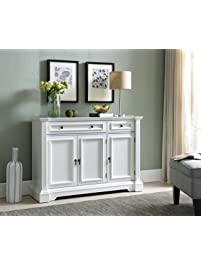 Kings Brand Furniture White Finish Wood Buffet
