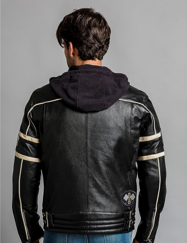Urban Leather UR-307 Austin Caballero Motorista Negro Talla L