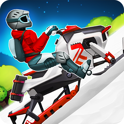 Winter Sports Game: Risky Road Snowmobile Race