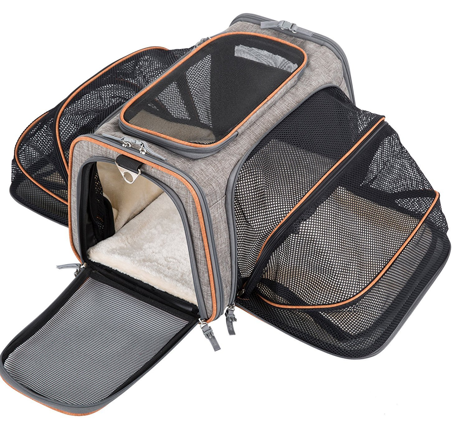 MOVEPEAK Pet Carrier for Dogs,Cats,Puppy with Airline Approved - Expandable Soft sided Pet Tote Carriers Bags,Folding Pets Kitten Totes Cats Carriers Bags,Portable Pet Supply Carrier Bags For Puppies Ltd.