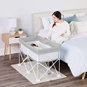 Regalo My Crib Portable Infant Bassinet, Includes Design Padded Insert, Travel Carry Bag, Support Tubes, Step Safety Locking Mechanism