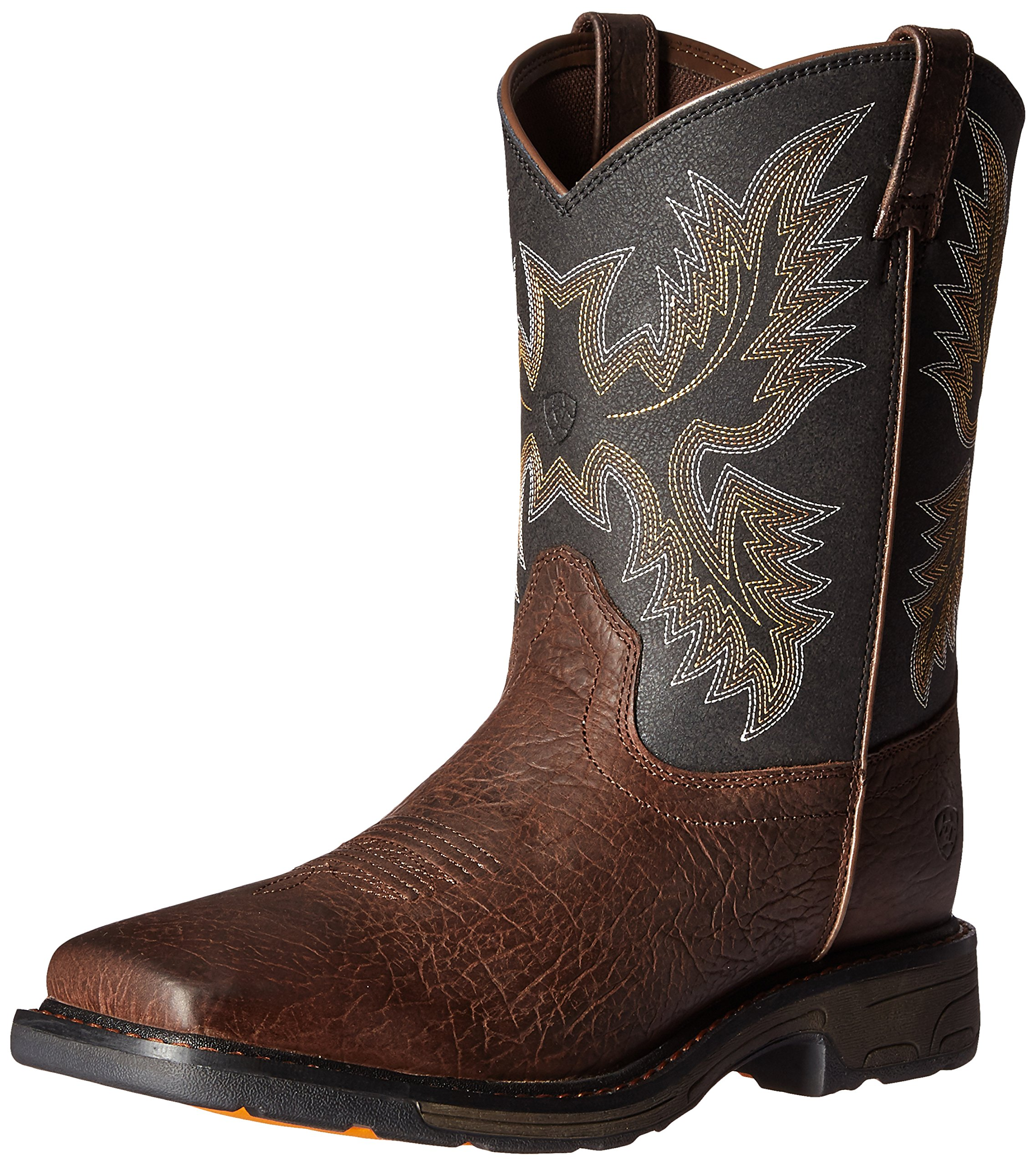 Kids' Workhog Wide Square Toe Western Cowboy Boot, Bruin Brown, 10 M US Toddler