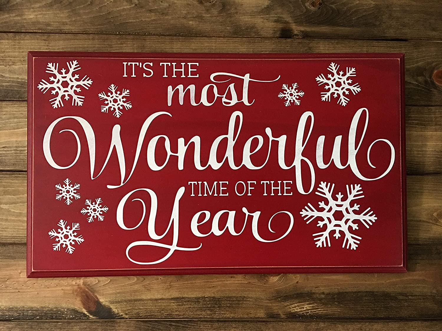 Celycasy It S The Most Wonderful Time Of The Year Christmas Holiday Sign Home Kitchen
