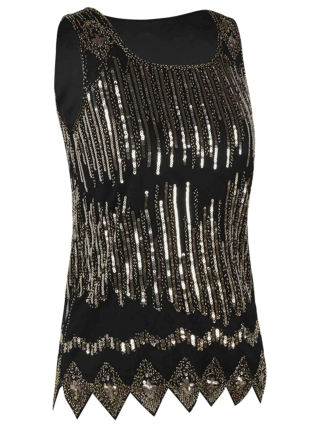 c86b2edf5c82ed PrettyGuide Women s Sequin Top Flowy Sparkly Cocktail Tank Party Dressy Tops  at Amazon Women s Clothing store