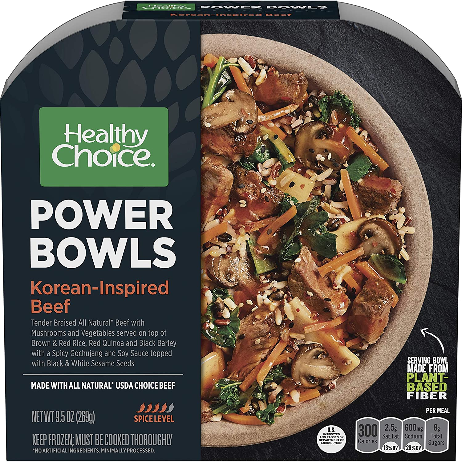Healthy Choice Power Bowls Frozen Dinner, Korean-Inspired Beef Bowl, Packed with Protein, 9.5 Ounce