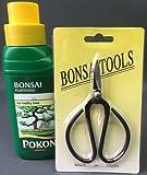Bonsai Tree 2 Piece Care Set - Scissors and Feed