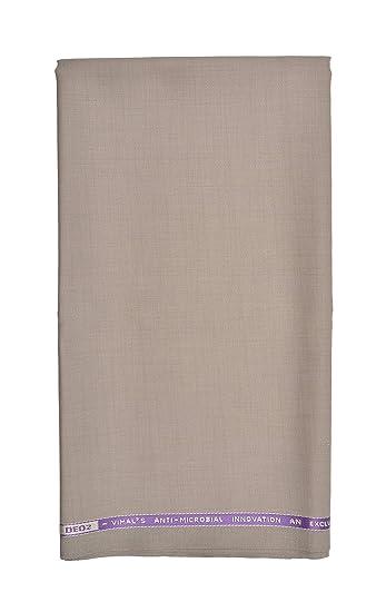 38e5dba70da VIMAL Men s Polyester Unstitched Suit (Beige