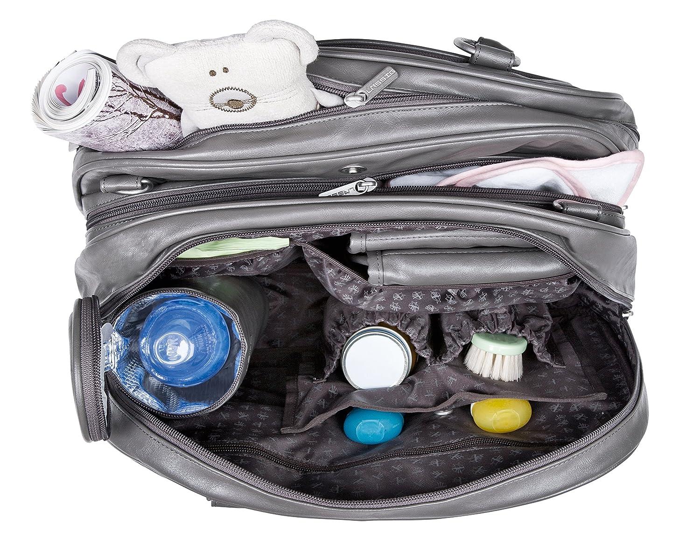L/ÄSSIG Baby Wickeltasche Babytasche Stylische Tasche inkl Wickelzubeh/ör//Tender Multizip Bag