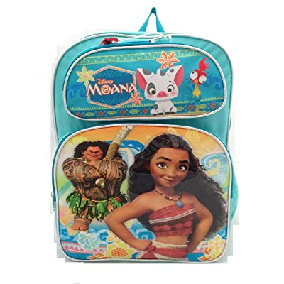 "New Disney Moana & Maui 16"" Large Children backpack: Toys & Games"