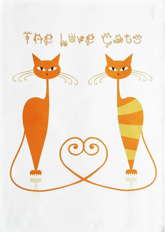 El Amor de gatos – grande de algodón toalla de té por la mitad de un burro: Amazon.es: Hogar
