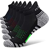 Closemate Athletic Ankle Socks 6 Pairs Low Cut Sport Cushion Running Tab Socks for Men and Women