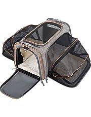 movepeak Luxus Fluggesellschaft zugelassen Pet Tasche, 2-Wege-Expansion weichen Seite Tasche, mit gemütlichen Fleece-Matte, mittlere Größe für Katzen, Hunde, 45,7x 27,9x 27,9cm grau