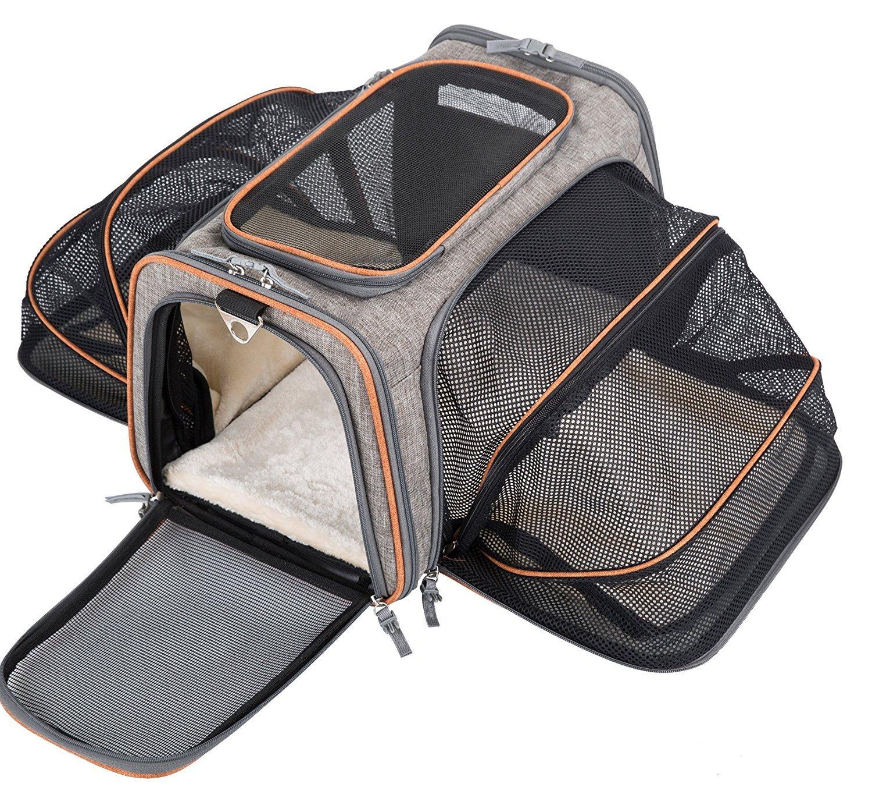 Movepeak - Transportín plegable para perros, gatos y cachorros aprobado por las aerolíneas - Incluye