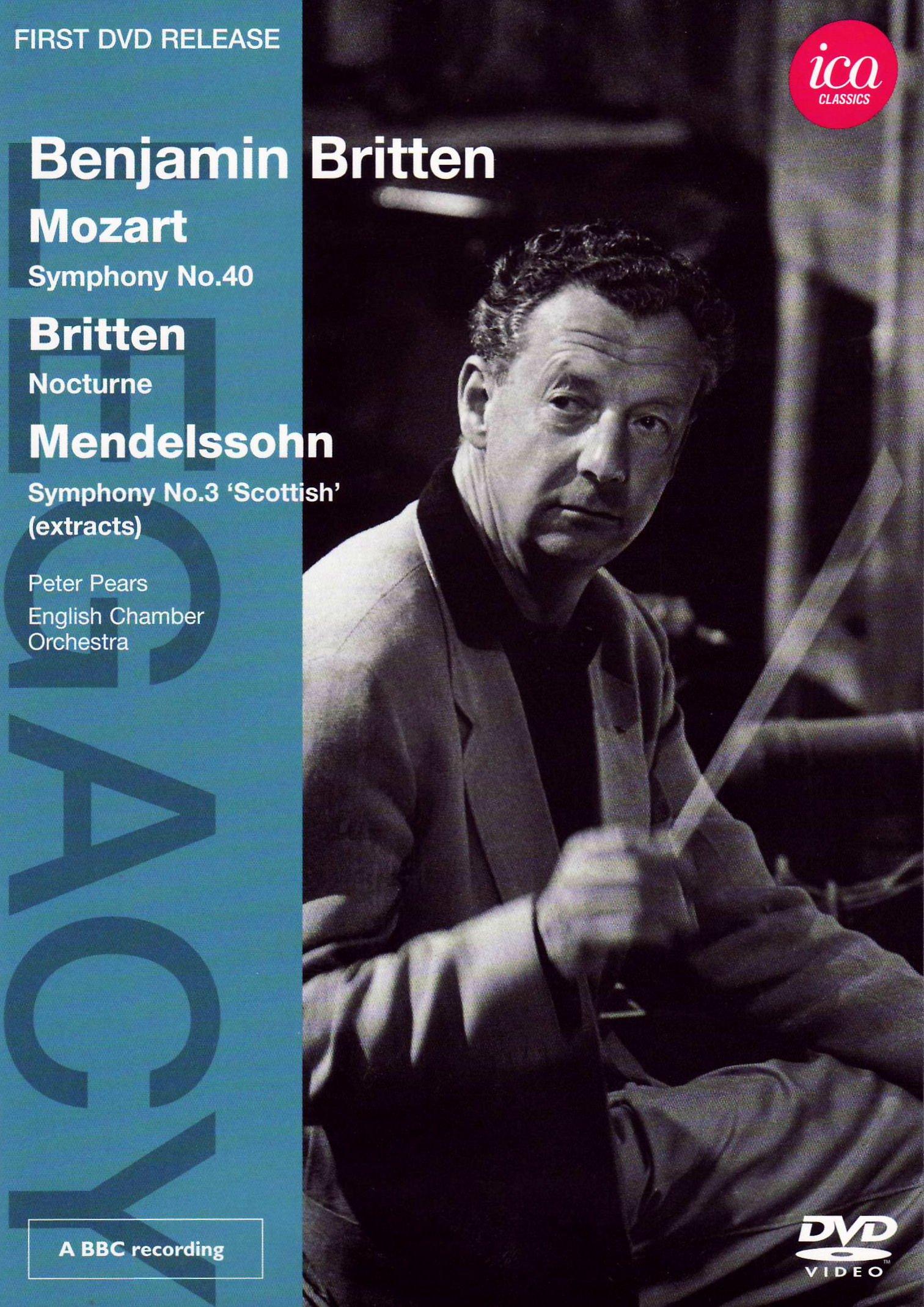 DVD : Peter Pears - Legacy: Benjamin Britten (DVD)