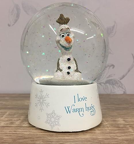 Mezzaluna Gifts Disney Olaf Snowman Snow Globe ~ I love warm hugs: Amazon.co.uk: Kitchen & Home