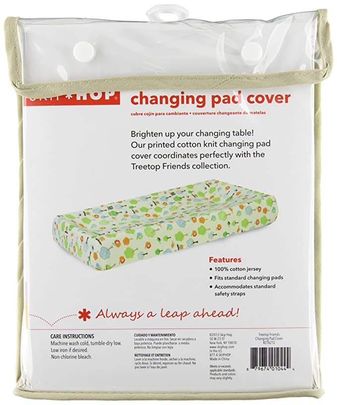 Skip Hop Baby Treetop Friends Changing Pad Cover, Multi